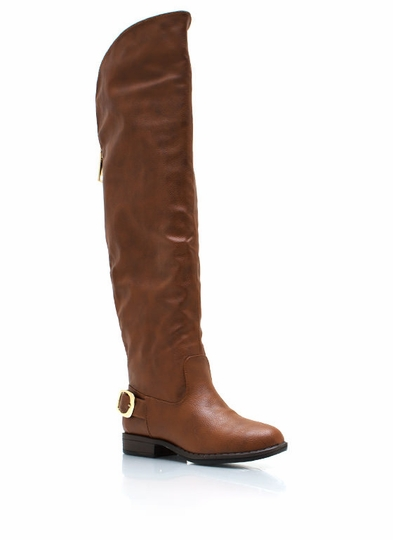 Buckle Back Riding Boots