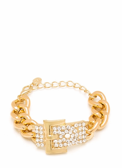 Buckle Down Embellished Bracelet