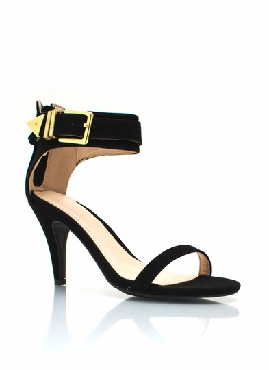 Buckle Down Single-Sole Heels