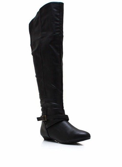 Buckle Up Knee-High Boots
