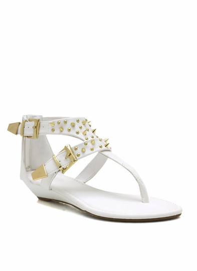 Buckle Up Spiked Sandals