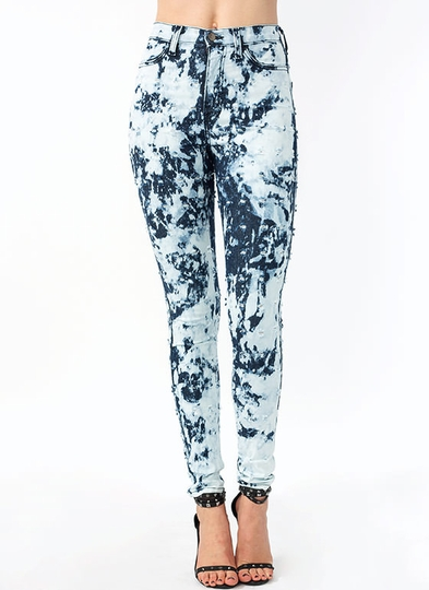 Bullet Point Bleach Splash Jeans
