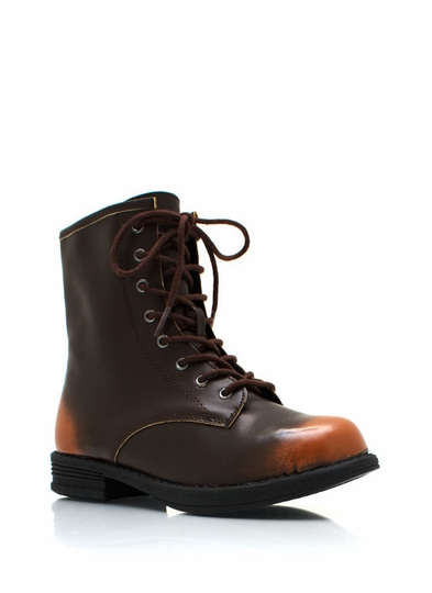 Burnished Combat Boots