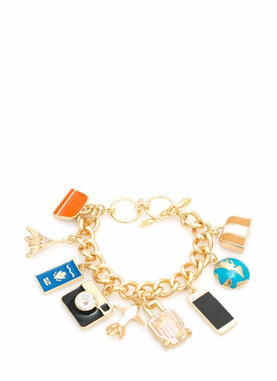 Business or Pleasure Traveler Charm Bracelet