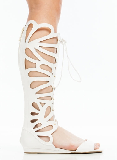 Butterfly Cut-Out Gladiator Sandals