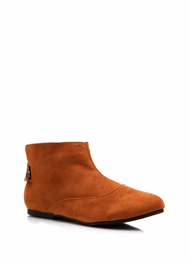 Button Back Ankle Boots