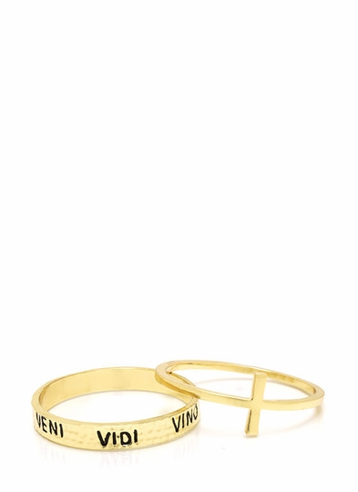 Came-Saw-Wined Bangle Set