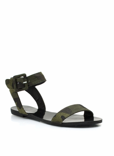 Camo Big Buckles Don't Lie Sandals