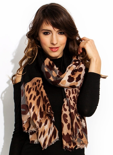 Camo Kitty Colorblock Scarf