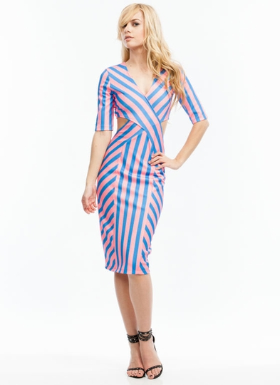 Candy Shop Cut-Out Midi Dress