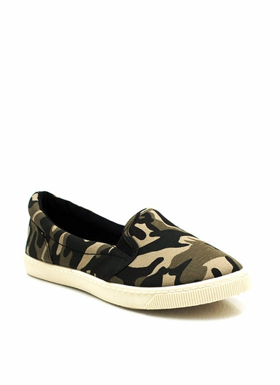 Canvas Camo Skimmers