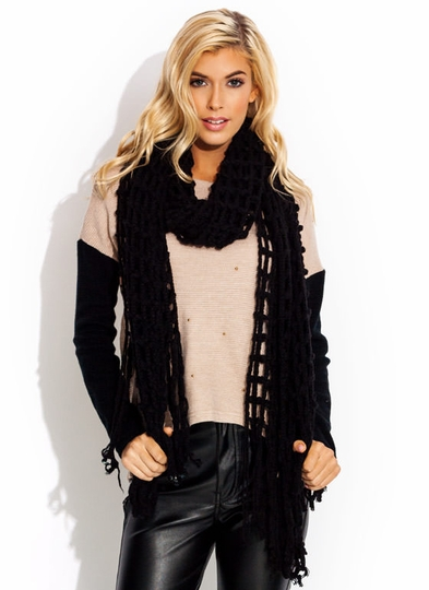 Cast Your Net Wider Knit Scarf