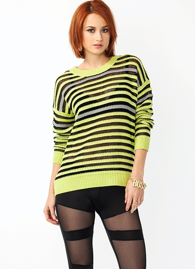 Caterpillar Striped Sweater