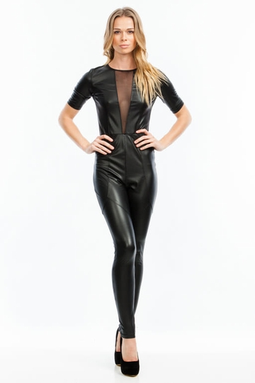 Catwoman Faux Leather Jumpsuit