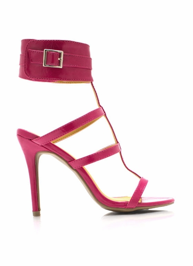 Center Cage Ankle Cuff Heels