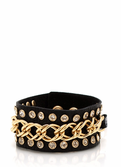 Chain Accent Snap Bracelet