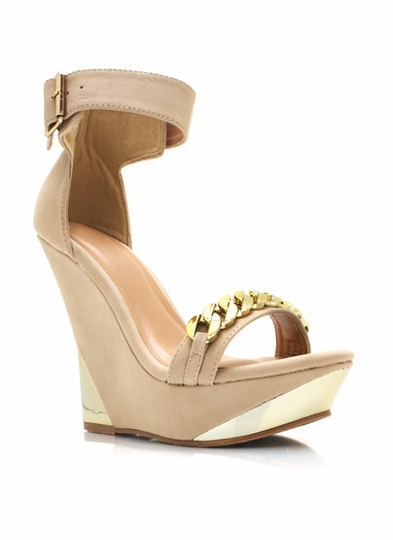 Chain Gang Ankle Strap Wedges