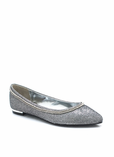 Chain-ge For Good Glitter Flats