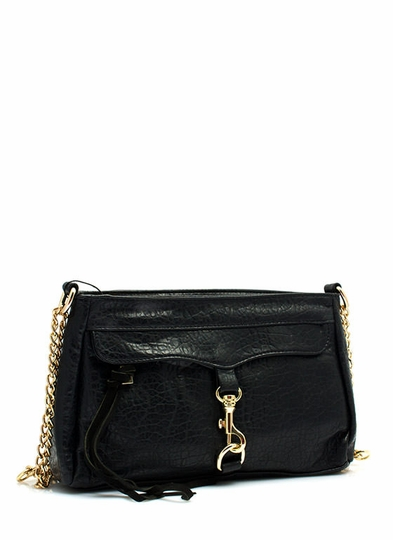 Chain-ge It Up Faux Leather Purse