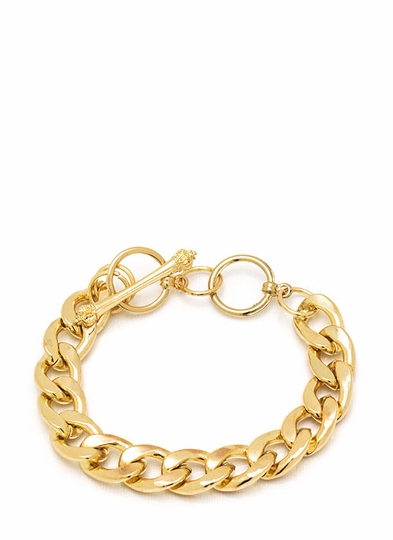 Chain Link Crown Toggle Bracelet