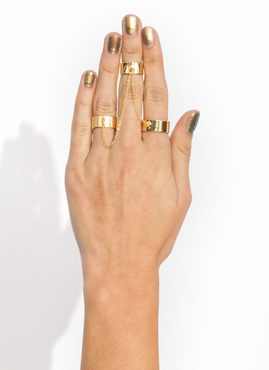 Chain Trio Ring Set