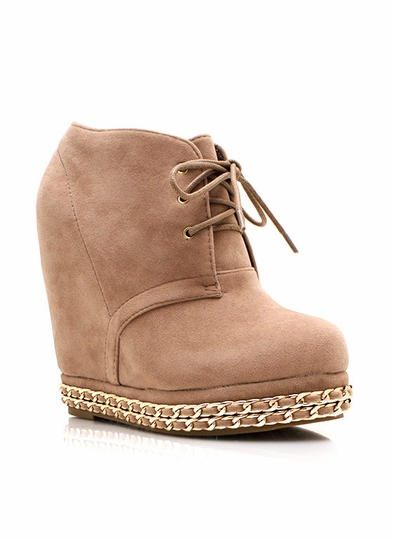 Chain-y Days Wedge Booties