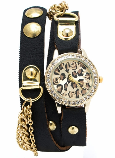 Chained Animal Wraparound Watch