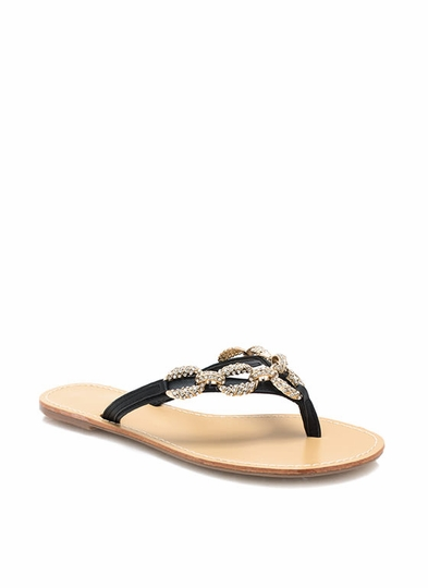 Chained Up Embellished Sandals