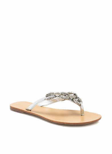 Chained Up Metallic Sandals