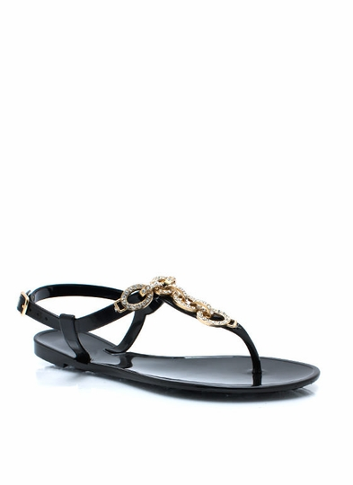 Chainy Days Jelly Sandals
