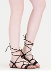 Charming View Lace-Up Gladiator Sandals
