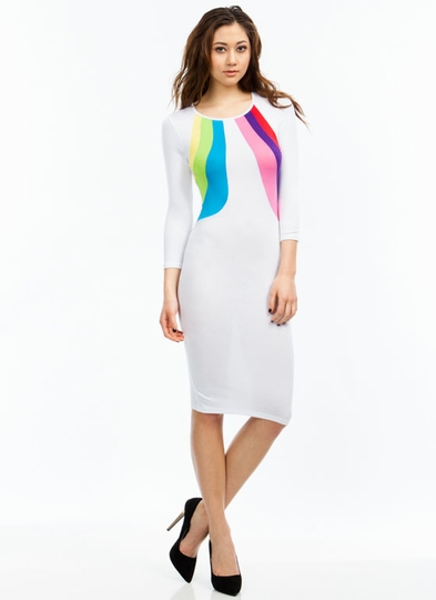 Chase The Rainbow Midi Dress