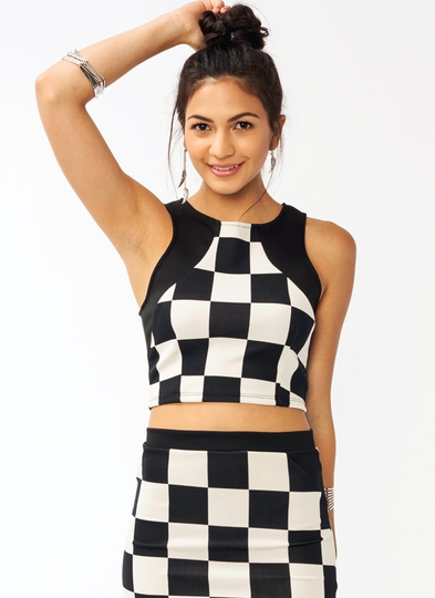 Check Mate Cropped Tank