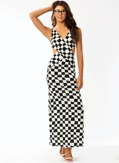 Check Mate Cut-Out Dress