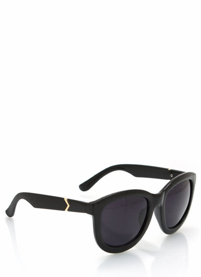 Chevron Accent Arm Sunglasses