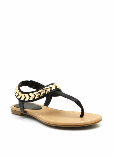 Chevron And On Thong Sandals