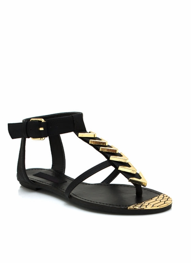 Chevron Reptile Sandals