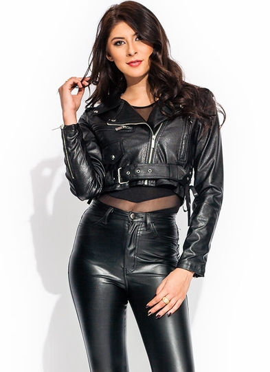 Cinch By Cinch Cropped Moto Jacket