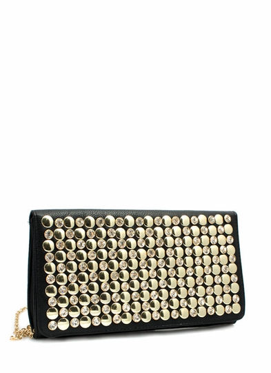 Circle Of Light Studded Clutch