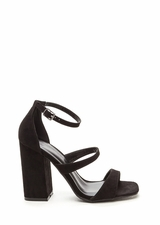 Classic Taste Strappy Faux Suede Heels