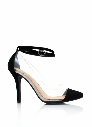 Clear 2 Me Cap Toe Heels