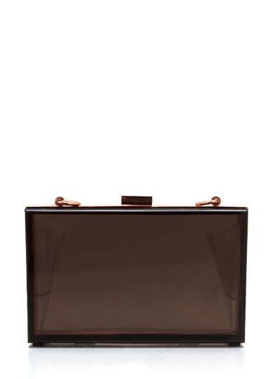 Clear Choice Lucite Clutch