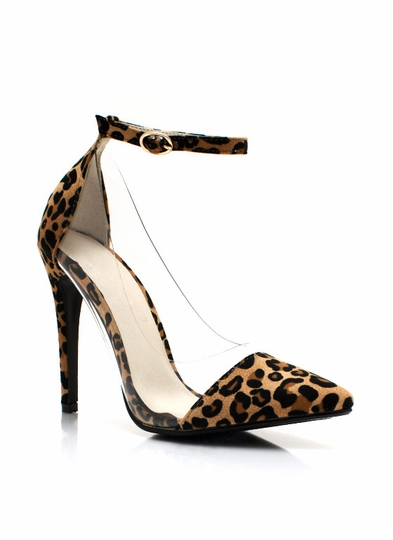 Clear Cut Pointy Leopard Pumps