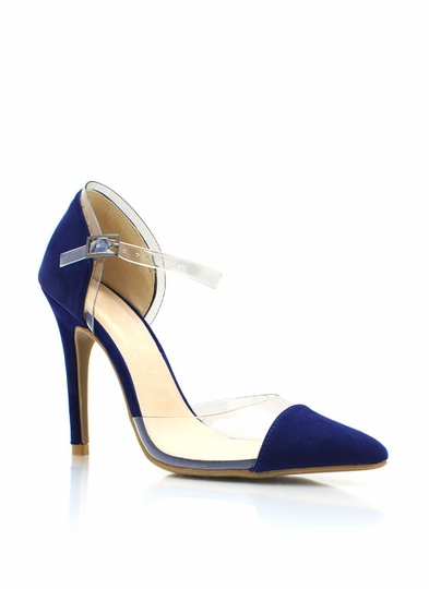 Clear The Way Pointy Toe PVC Heels