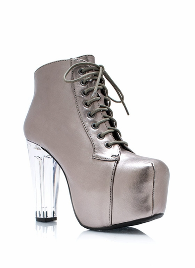 Clearly Metallic Poppin Booties