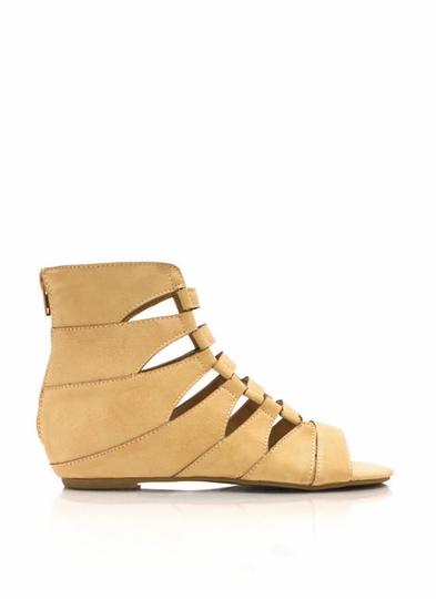 Climb Up Laddered Cut-Out Sandals