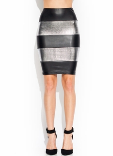 Coated Spangles Skirt