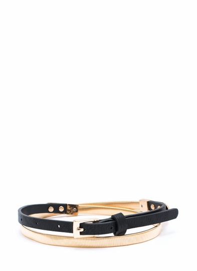 Coil The Plan Metal Skinny Belt