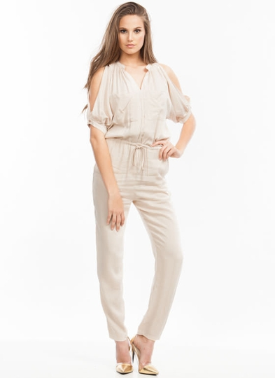 Cold Shoulder Cut-Out Jumpsuit