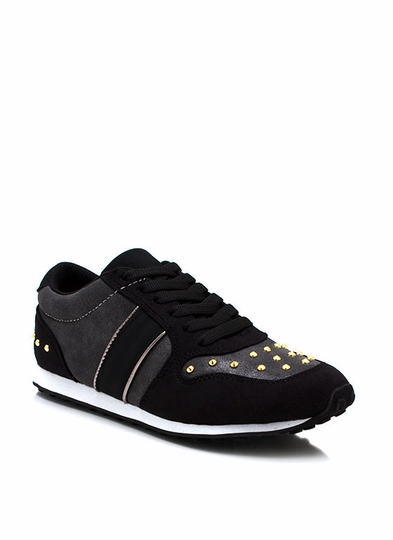 Colorblock It Off Studded Sneakers